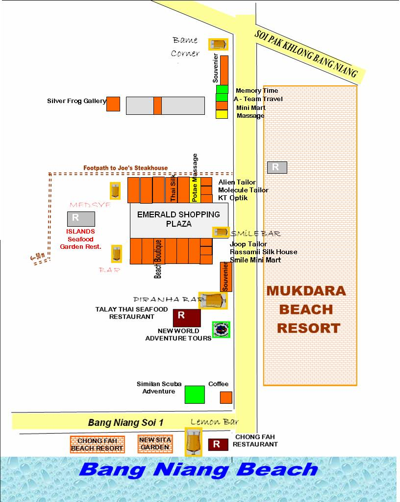 Bang Niang Town Map